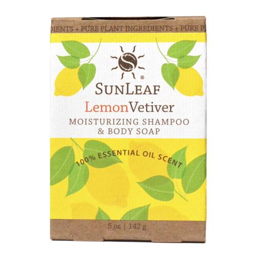 5oz Lemon Vetiver Shampoo & Body Soap Bar by Sun Leaf Naturals