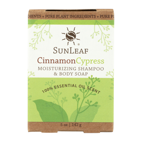 5 ounce Cinnamon Cypress Shampoo & Body Bar by Sun Leaf Naturals