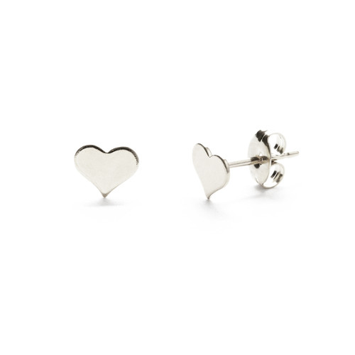 Heart Studs - Sterling Silver
