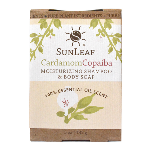Cardamom Copiaba 5oz Shampoo and Body Bar by Sun Leaf Naturals