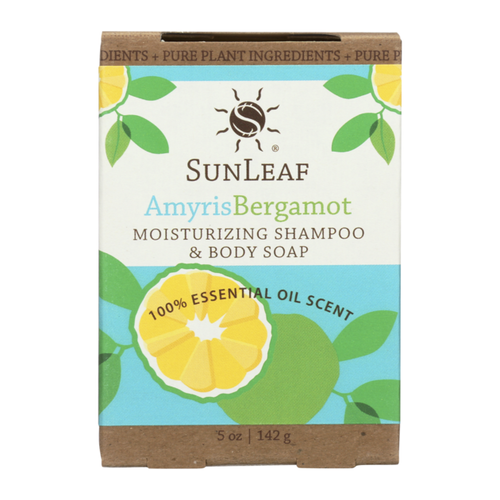 Amyris Bergamot 5oz Shampoo and Body Bar by Sun Leaf Naturals.
