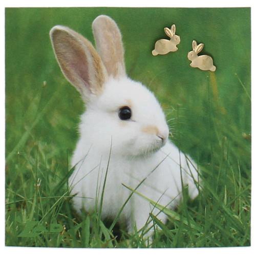 Gold Rabbit Post Earring