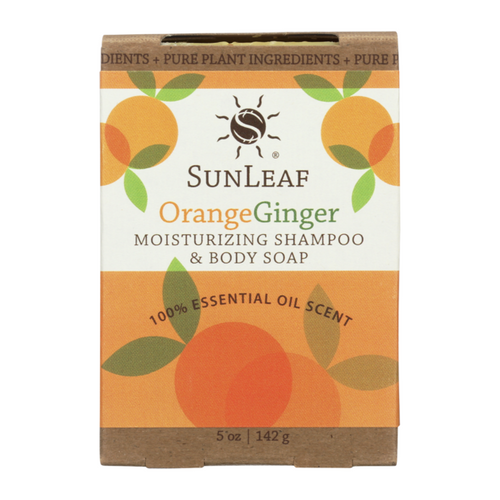 Orange / Ginger 5 oz Shampoo and Body Bath Bar by Sun Leaf Naturals