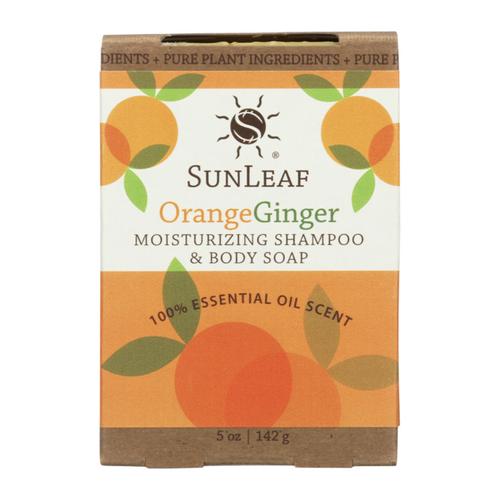 Orange / Ginger 5 oz Shampoo and Body Bath Bar by Sun Leaf Naturals