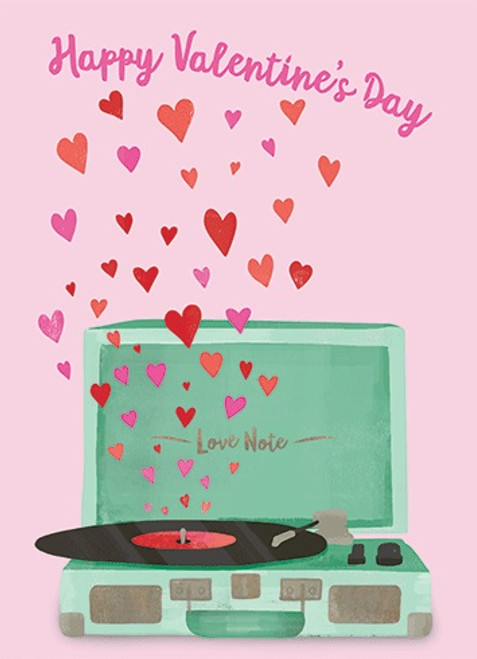 Record Player - Valentine's Day Card