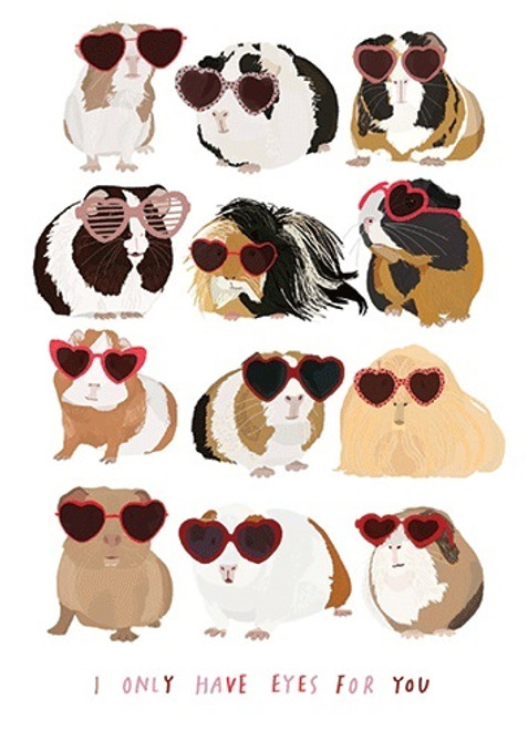 Guinea Pigs - Valentine's Day Card