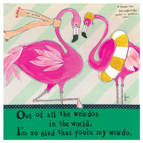Flamingos - Love Card