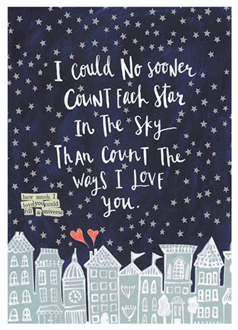 Count the Stars - Love Card
