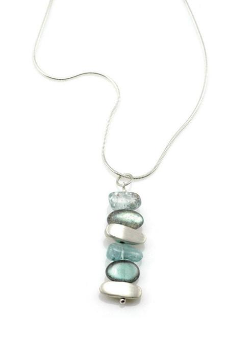 Lab. Aqua, Nuggets Silver Necklace