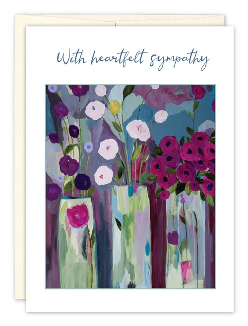 Three Vases Sympathy Card