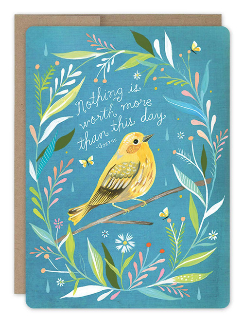 Wildflower Bird - Birthday Card