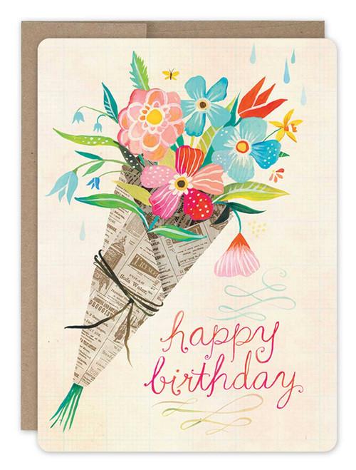 Bouquet - Birthday Card