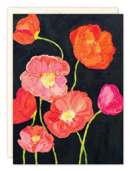 Orange Poppies - Birthday Card