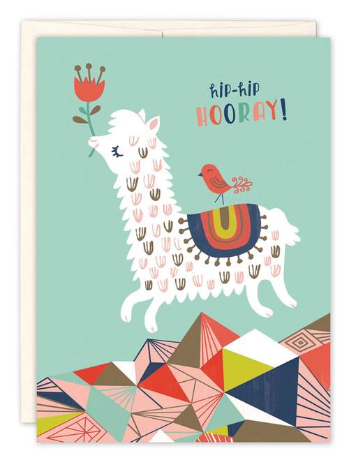 Prancing Llama - Birthday Card