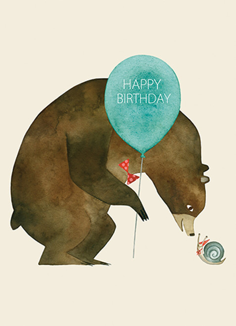 Bear and Snail - Belated Birthday Card