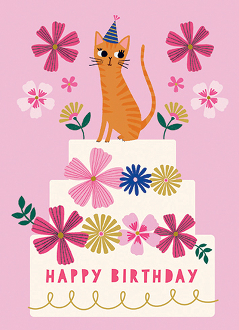 Birthday Cat - Birthday Card