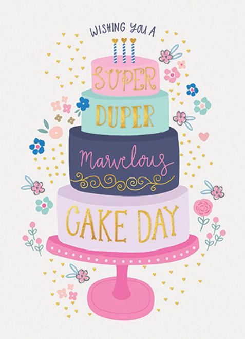 Tiered Cake - Birthday Card