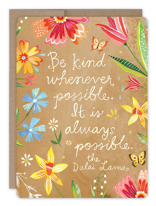 Be Kind -Thank You Card