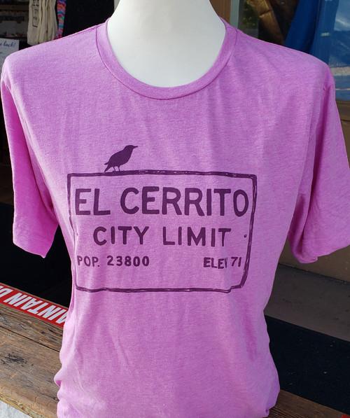 Heather Mauve Unisex El Cerrito T-Shirt