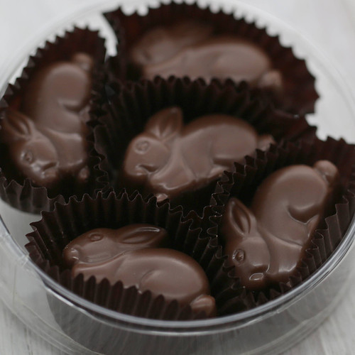 5pc Solid Milk Chocolate Bunnies
