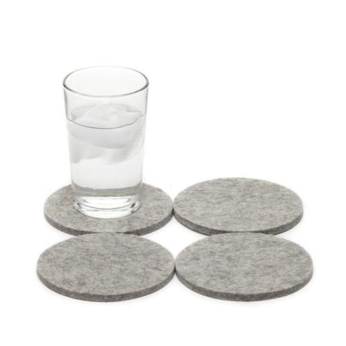 Felt Round Coaster 4 Pack - Granite