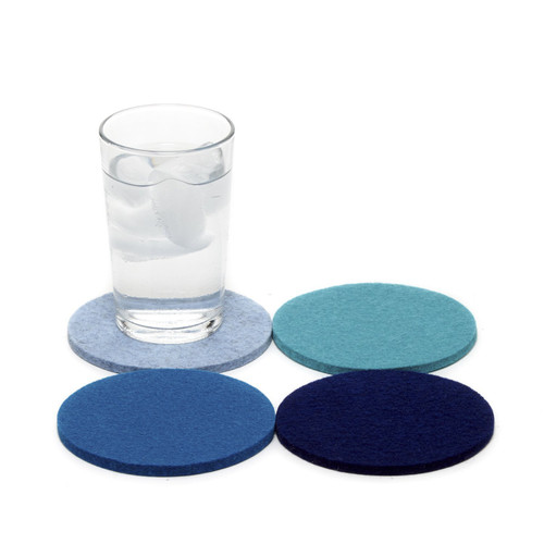 Round Coaster 4 Pack - Mixed Colors Ocean