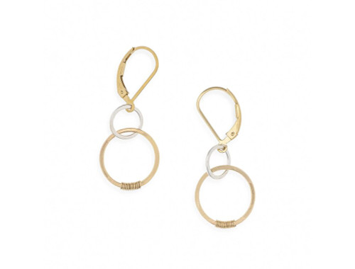 Love Earrings Sterling Silver and Gold Filled