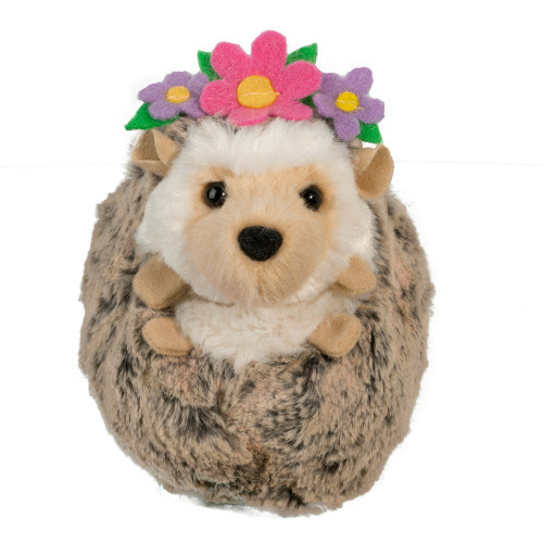 Spunky Hedgehog with Flower Headband