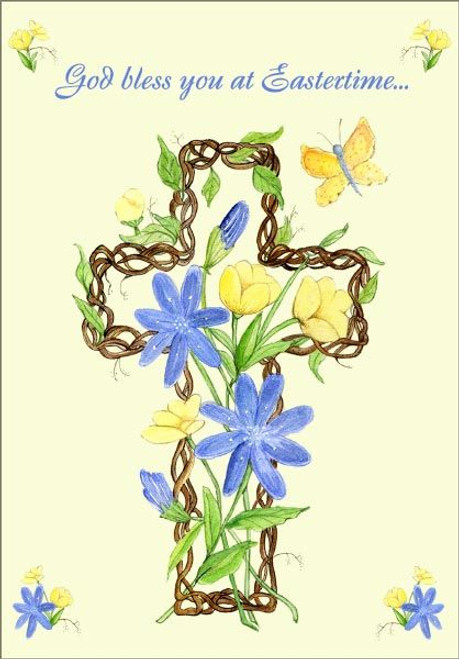 Easter Card - God Bless You at Eastertime