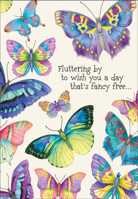 Birthday Card - Fluttering By