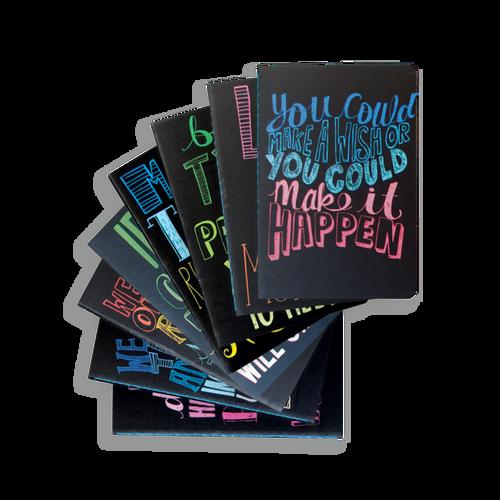 "Mini Pocket Pal Journals: Quotations - Set of 8 (3.5"" x 5"")"