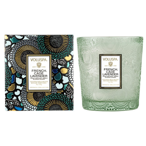 French Cade Lavender Embossed 9oz Boxed Candle