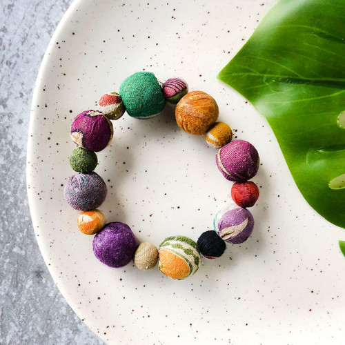Betty Bauble Kantha Bracelet