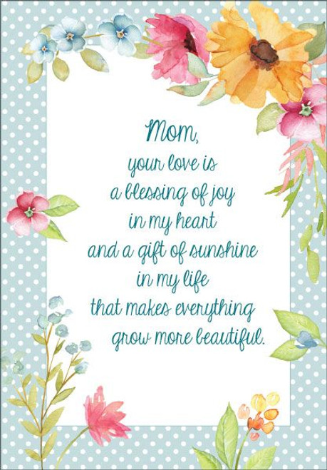 Mom, your love is a blessing
