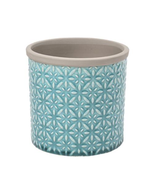 Tuscany Glazed Pot - Blue Small