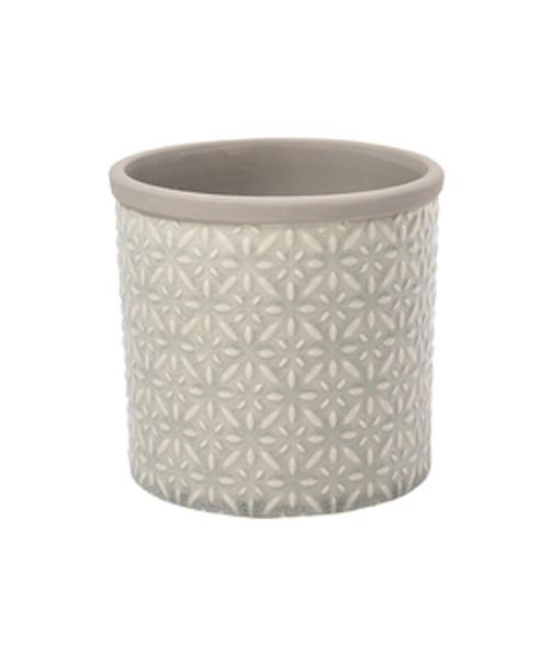 Glazed Pot - Tuscany Small Grey