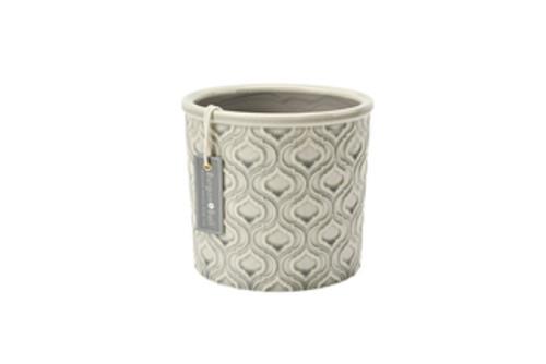 Venetian Grey Glazed Pot - Large