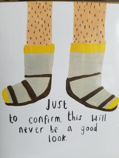 Socks with Sandals Father's Day Card CHA13S