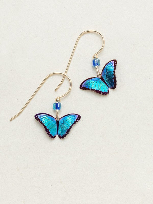 Petite Bella Butterfly Earrings by Holly Yashi - Blue Radiance