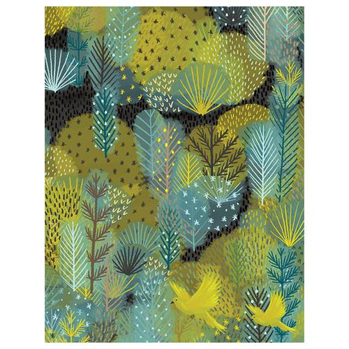Birds in Forest Birthday Card