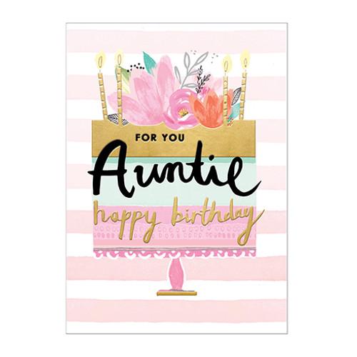 Birthday Auntie - Birthday Card