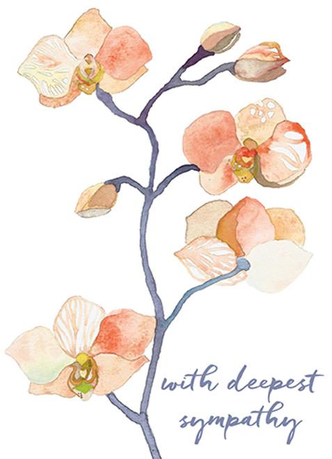 Peach Orchid - Sympathy Card