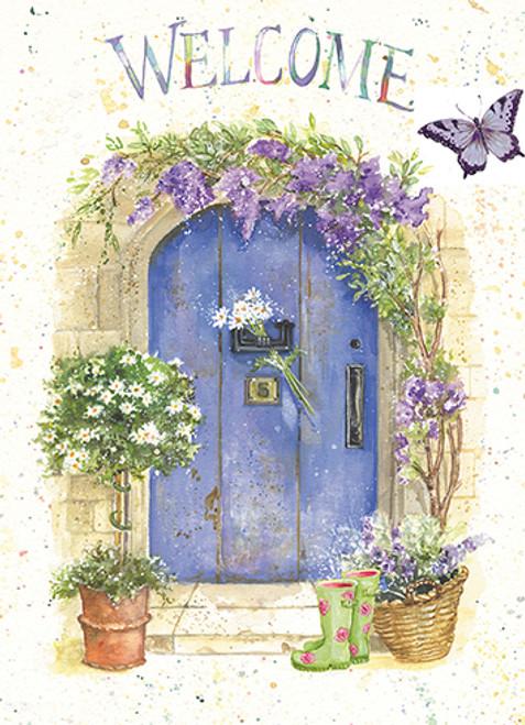 Blue Door Welcome - New Home Card