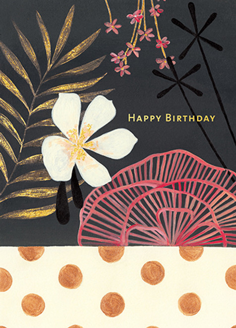 Black Tropics - Birthday Card