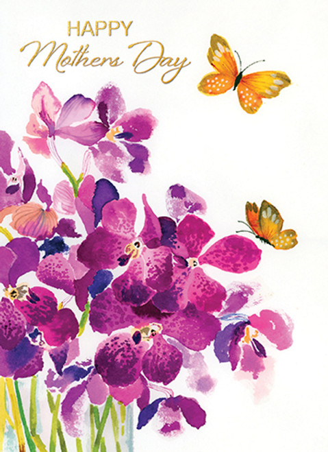 Flower and Butterfly - Mother's Day Card