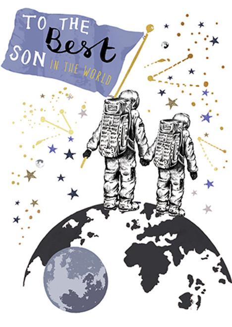 Astronaut Son - Birthday Card