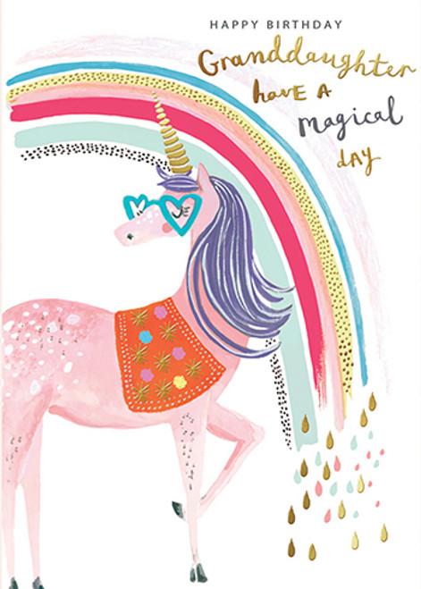 Unicorn Granddaughter - Birthday Card