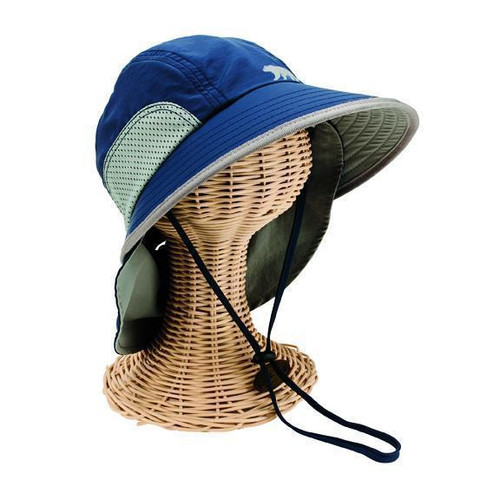 Toddler Sun Brim Hat w/ Neck Cover Navy