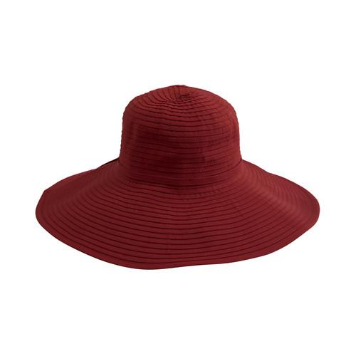 Women's Ribbon Braid Large Brim Hat - Red