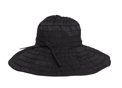 Women's Adjustable Tie Floppy - Black